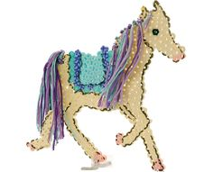 My Pretty Horse Perler Bead pattern (directory of ideas: http://www.eksuccessbrands.com/perlerbeads/creative/projects.htm?page=all)
