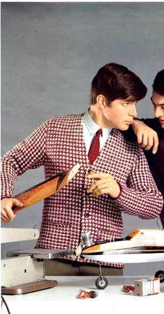 Mens Retro 60s Checkered Cardigan Digital Knitting by YarnSkippy Retro  Design fc1ddc318