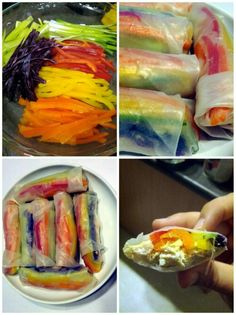 rainbow salad roll ups