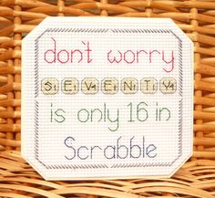 Details about 30th, 40th, 50th 60th 70th, 80th & 90th Scrabble Birthday…