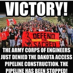 #Repost @tonybakercomedy ・・・ YESSSSSSSSS!!!!!!!!!!🙌🏾🙌🏾🙌🏾🙌🏾🙌🏾🙌🏾🙌🏾🙌🏾 #nodapl  The People have made difference. United and strong!!!! We will stand for justice during this trying period.  And we will win many battles.  This is amazing news an answer to the prayers and hard work of people seeking freedom and justice for all Americans especially Native American who under white supremacy have suffered the most