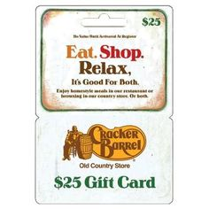 Cracker Barrel - $25