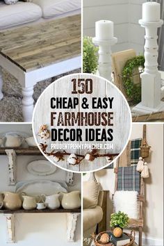 Get the country look on a budget with these cheap and easy DIY farmhouse decor ideas. There are DIY home decor ideas for your bedroom, bathroom, kitchen, and living room to choose from. Modern Farmhouse Living Room Decor, Living Room Decor On A Budget, Farmhouse Kitchen Decor, Diy Home Decor On A Budget Easy, Country Farmhouse, Diy Kitchen Decor, Diy Bathroom Decor, Diy Home Projects Easy, Estilo Country