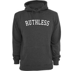 RUTHLESS HOODY / Charcoal #ruthless #streetwear #kleidung #fashion #style #styling #hoody http://www.rudestylz.de/ruthless-hoody.htm