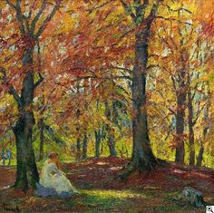 "Edward Cucuel -""Herbsteinsamkeit"" #art"