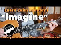 """Beginner Guitar Lesson """"Imagine"""" By John Lennon - Made Easy! - YouTube"""