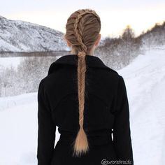 French fishtail braid and a lace braid