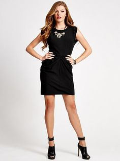 A classy black dress for work and play.