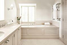 Family Bathroom at Mill House Bath Design Detail Modern by Sims Hilditch Double Sink Bathroom, Bathroom Spa, Family Bathroom, Bathroom Ideas, Master Bathroom, Neutral Bathroom, Master Baths, Washroom, Bath Ideas