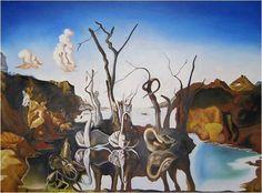 quaeram: Salvador Dalì - Cigni che riflettono elefanti