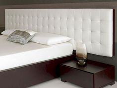 Baltazar Walnut Bed White Headboard - modern - headboards - other metro - Living It Up This would be more the style of the other side of the bed , since Bob thinks my choice is ghastly! Contemporary Headboards, Modern Headboard, White Headboard, Headboard Designs, Headboards For Beds, Contemporary Bedroom, Contemporary Couches, Headboard Ideas, Bedroom Modern