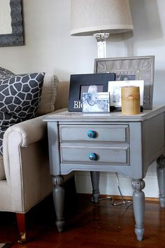 end table....distressed finish....love the color