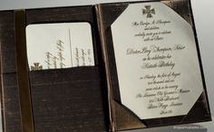 A silk folder to hold your invitation would be a great way to jazz things up