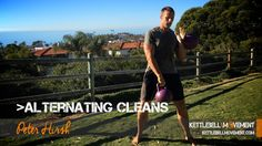 This lesson on the alternating kettlebell clean is designed for advanced practitioners and uses two kettlebells for an ultimate core and cardio challenge