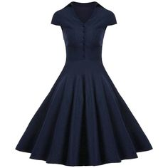A Line Buttoned Vintage Corset Dress with Sleeves ($25) ❤ liked on Polyvore featuring dresses, vintage corset dresses, blue a line dress, vintage corset, a line dress and blue sleeve dress