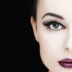I used to have long lashes like these one she is wearing.now only falsies can I get this look back...