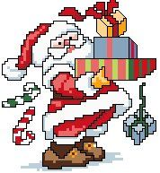 Advanced Embroidery Designs - Santa Claus with Gifts