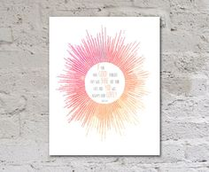 If you have good thoughts they will shine out your face, Roald Dahl Quote, Summer art printable