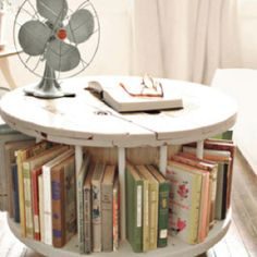 Book case made out of a spool!
