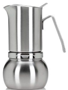 Stella Inox Satinato 10 Cup Stainless Steel Stovetop Espresso Maker 498 S