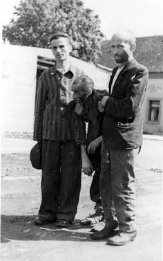 Theresienstadt, Czechoslovakia, May 1945, Camp inmates, during the liberation.