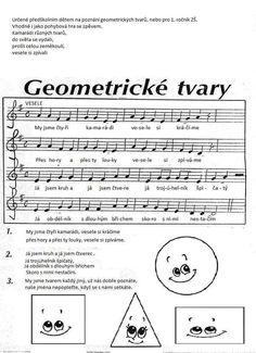 Geometricke tvary - písnička Shape Songs, Action Songs, School Songs, Montessori Math, Presents For Kids, Preschool Themes, Kids Songs, Math Games, Primary School