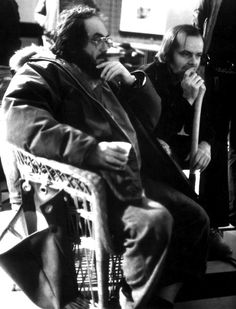 Stanley Kubrick and Jack Nicholson filming The Shining (1980)