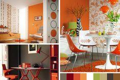 arancione, palette verde e marrone