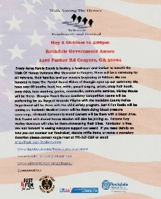 Georgia Fair/Festival .. Walk Among The Heroes Veterans Fundraiser and Festival In Conyers, GA In May 2015