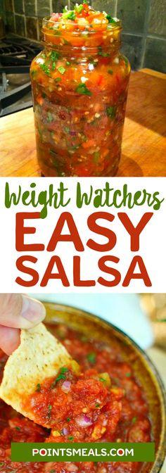 Zero Points Easy Salsa Recipe #weight_watchers #salsa