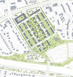 3rd Prize: Lageplan 1:1.000, © ASP Architekten Schneider Meyer Partner + chora blau Landschaftsarchitektur