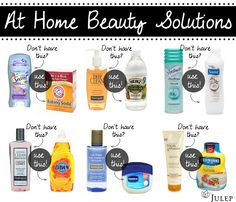 6 at home beauty solutions!