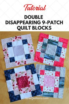 Quilting For Beginners, Quilting Tips, Quilting Tutorials, Beginner Quilt Patterns Free, Quilting Projects, 9 Patch Quilt, Quilt Festival, Karen O'neil, Fat Quarters