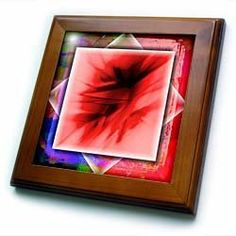 "Abstract Crystals and Background - 8x8 Framed Tile by Susan Brown Designs. $22.99. Keyhole in the back of frame allows for easy hanging.. Inset high gloss 6"" x 6"" ceramic tile.. Dimensions: 8"" H x 8"" W x 1/2"" D. Cherry Finish. Solid wood frame. Abstract Crystals and Background Framed Tile is 8"" x 8"" with a 6"" x 6"" high gloss inset ceramic tile, surrounded by a solid wood frame with predrilled keyhole for easy wall mounting."