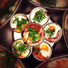 Mini Shakshouka in glasses! Very delicious. Love love love. Vegetarian and could be gluten free