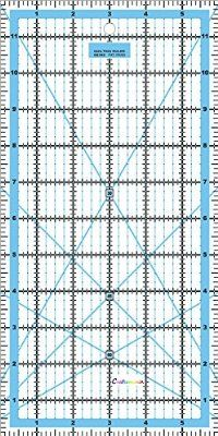"""Quilting Patchwork Ruler Rotary Craft Rectangle Imperial - 12"""" x 6"""""""