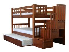 Bunk Bed Twin over Twin Stairway Expresso with Trundle for only $742