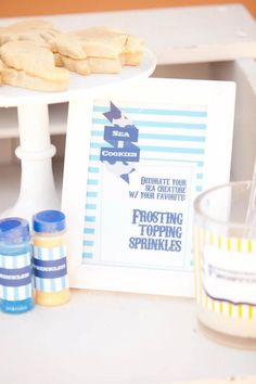 Ahoy Baby 1st Birthday Party- Nautical Style - Kara's Party Ideas - The Place for All Things Party