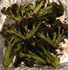Delicious Roasted Garlic Broccoli!