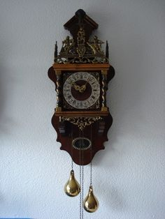 Details About Vintage Dutch Zaanse 2 Tone Chiming Wall