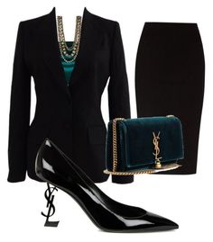 """Blackberry"" by ceren-can-1 on Polyvore featuring moda, Dolce&Gabbana, Kenneth Jay Lane, The Row ve Yves Saint Laurent"