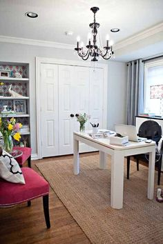 feminine office decor | Interior Design Tips for the Busy Professional