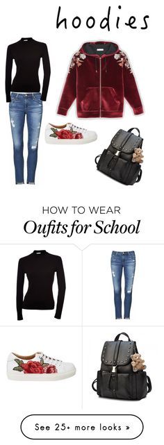 """""""Untitled #5"""" by raqui7chic1 on Polyvore featuring AG Adriano Goldschmied and Hoodies"""