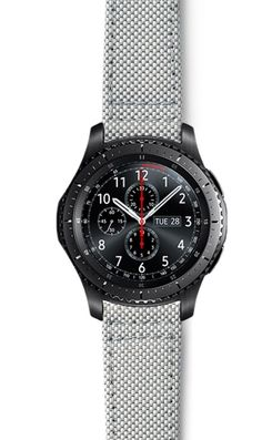 Strap Studio offers premium quality watch straps designed exclusively for Samsung smartwatches including Galaxy Watches, Gear Sport and more. Samsung Gear S3 Frontier, Watch Faces, Gears, Watches, Smartwatch, Studio, Mens Fashion, Accessories, Grey