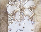 sparkly bow iphone cover