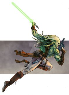"""""""Kit Fisto of Star Wars - Tofu the Bold color version"""" Star Wars Characters Pictures, Star Wars Images, Sci Fi Characters, Star Wars Concept Art, Star Wars Fan Art, Star Wars Rpg, Star Wars Clone Wars, Star Wars Species, Jedi Sith"""