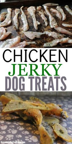 pet treats recipes Healthy is part of Pet Treat Recipes Allrecipes Com - Dogs LOVE these homemade Chicken Jerky Dog Treats and they only take a few ingredients to make! Homemade Jerky, Homemade Dog Cookies, Homemade Dog Food, Diy Dog Treats, Healthy Dog Treats, Dog Biscuit Recipes, Dog Food Recipes, Dog Cookie Recipes, Health Recipes