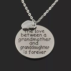Love Between a Grandmother & Grand Daughter Necklace – Discount Store Pro