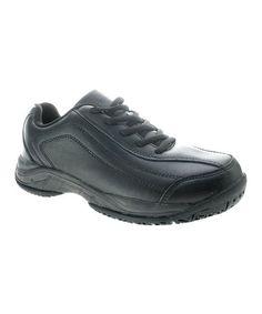 Spring Step Alert Womens Black Oil & Slip Resistant Lace Up Nursing Work Shoes Black Oil, Spring Step, Walking Shoes, All Black Sneakers, Lace Up, Sporty, Leather, Nursing, Women