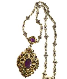 ANTIQUE ,VICTORIAN AUSTRO-HUNGARIAN NECKLACE,AMETHYSTS,PEARLS,MAGNIFICENT,LARGE. in Jewelry & Watches, Vintage & Antique Jewelry, Fine, Victorian, Edwardian 1837-1910, Necklaces & Pendants | eBay